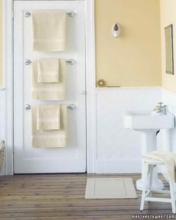 Back of the Door Towel Storage.