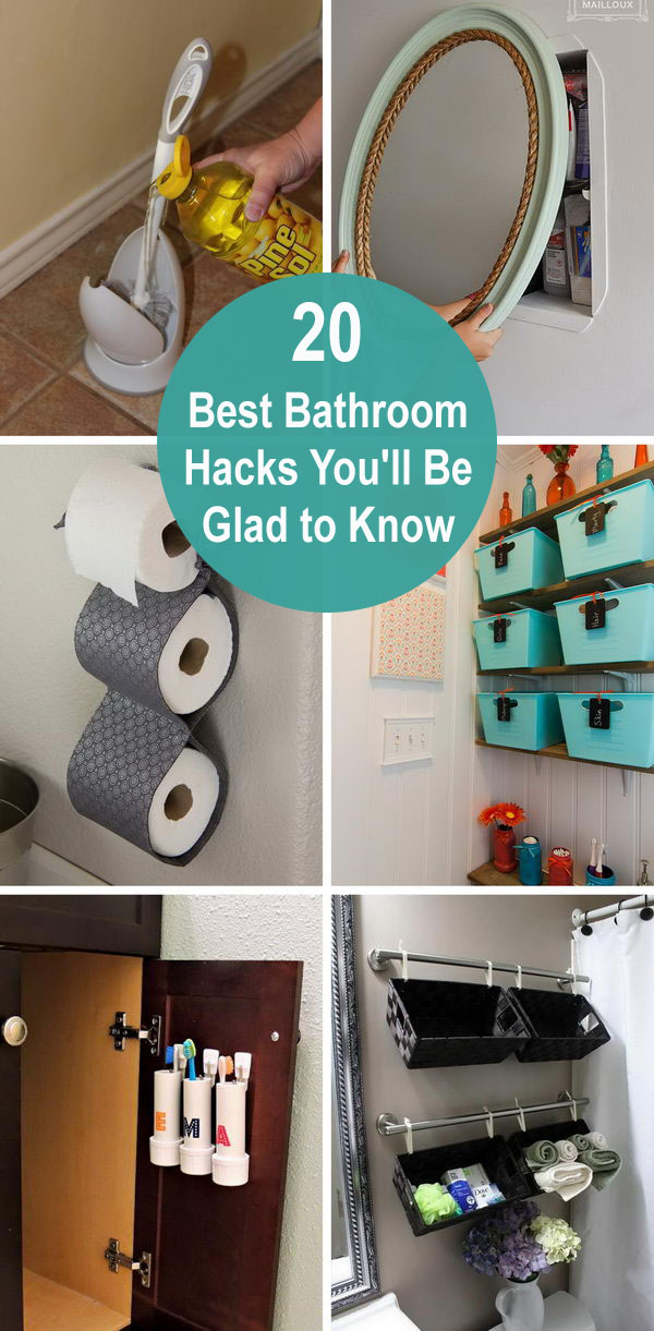 20 Best Bathroom Hacks You'll Be Glad to Know.