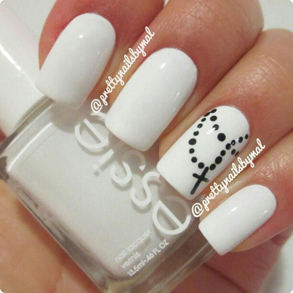 80 black and white nail designs black and white cross nail designs prinsesfo Choice Image