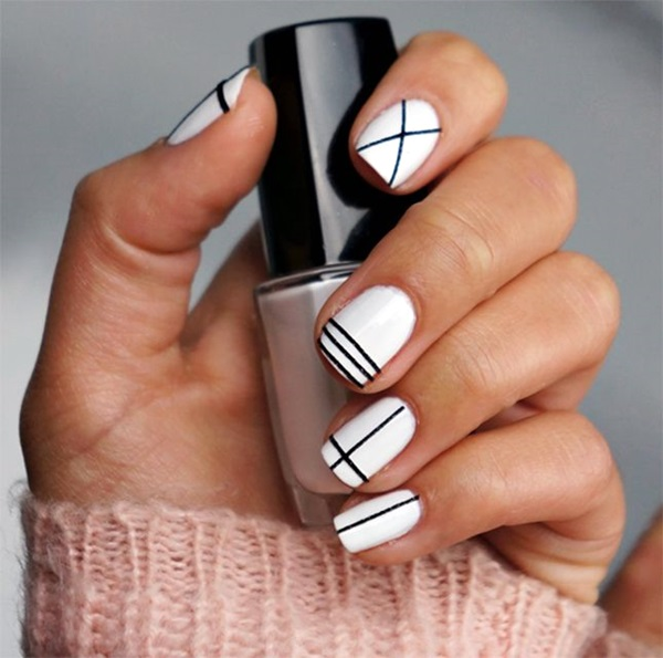 80 Black And White Nail Designs