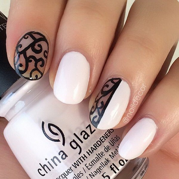 Elegant Nails with a Negative Space Edge