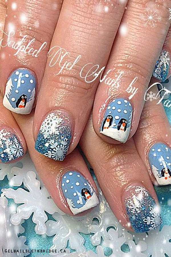 Art Designs: 50 Festive Christmas Nail Art Designs