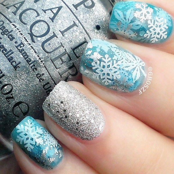50 festive christmas nail art designs let it snow christms nail art prinsesfo Gallery
