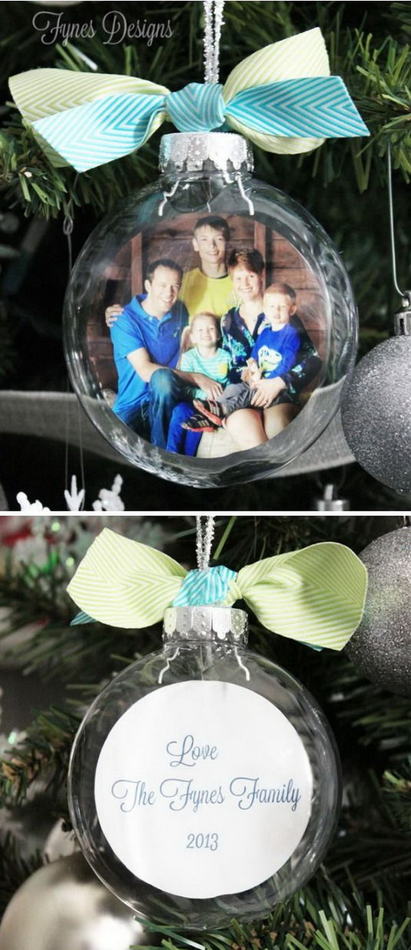 DIY Glass Photo Ornaments.