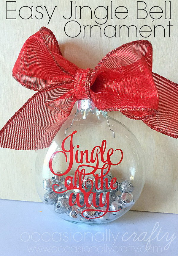 Easy Jingle Bell Ornaments.