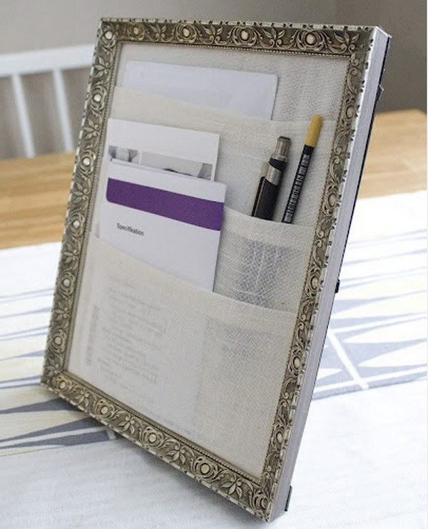 Picture Frame Desk Organizer.