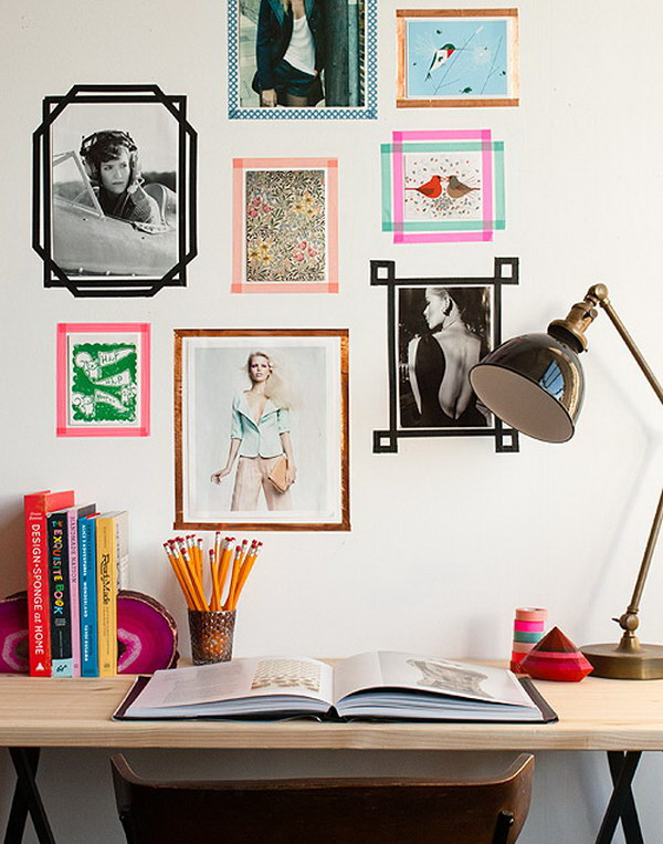 Washi Tape Picture Frames.