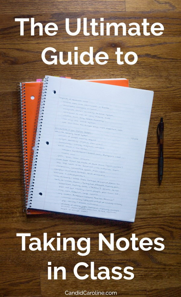 The Ultimate Guide to Taking Notes in Class.
