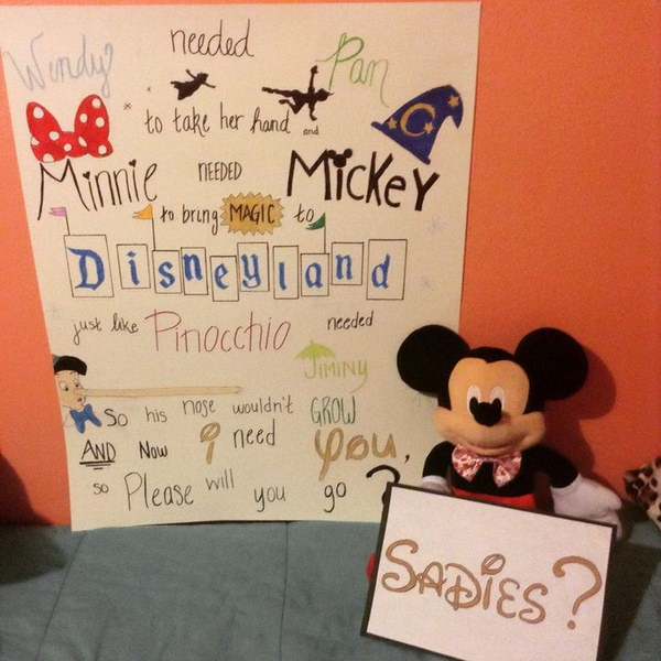 Disney themed Sadies proposal.
