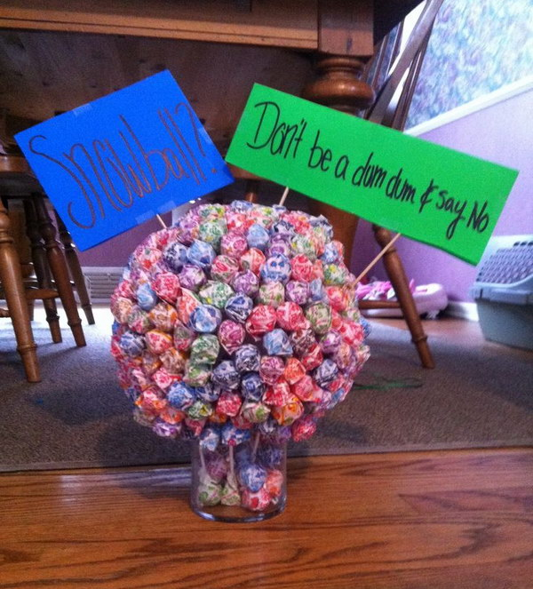Use Candy Ball As A Cute Way To Ask Someone To A Dance.