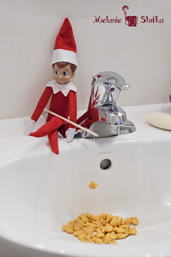 Elf is Enjoying Fishing.