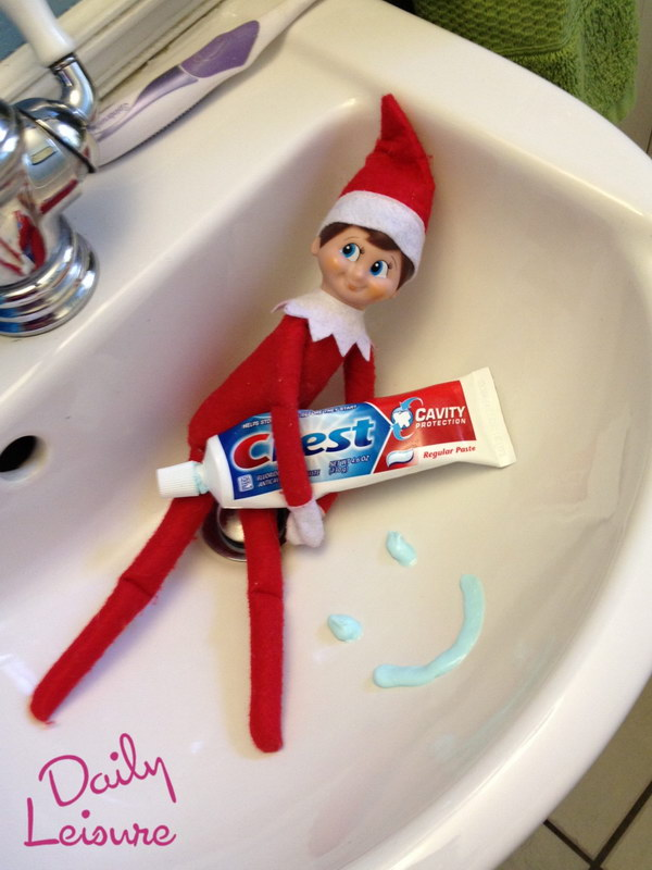 Playing with the Toothpaste.