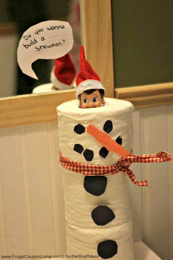 Toilet Paper Snowman Elf.