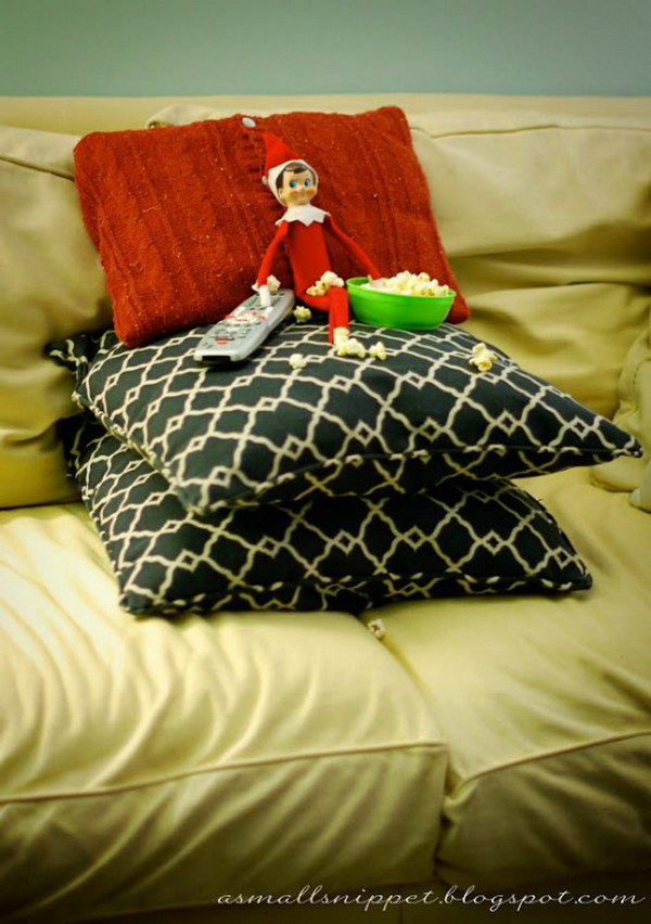 Elf is Watching a Movie.