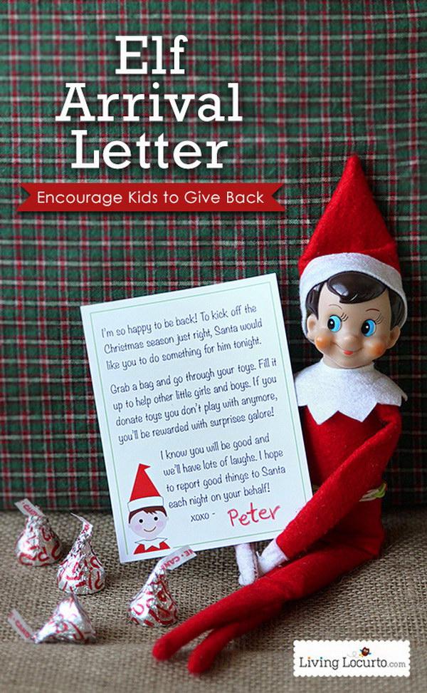 Elf Printable Arrival Letter.