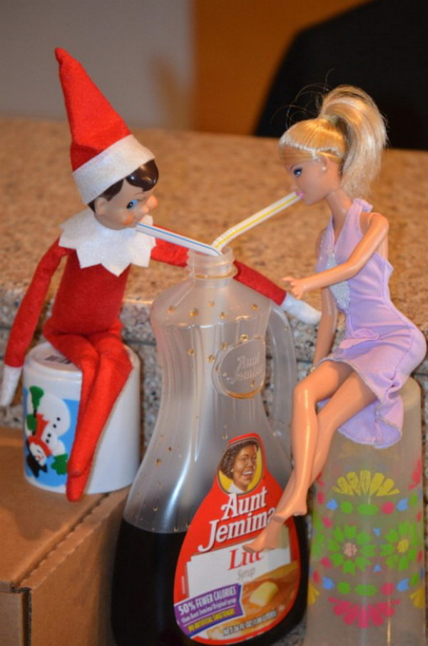 Date Night for Elf and Barbie.