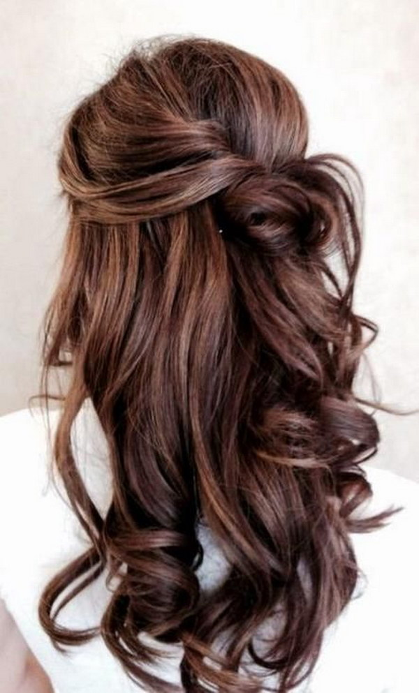 half up half hair styles 55 stunning half up half hairstyles 3548