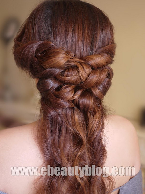 Romantic Half Up Half Down Hair Tutorial.