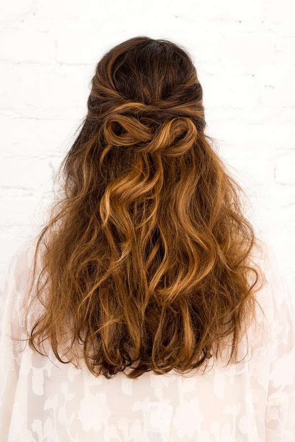 Infinity Bow Half Up Hairstyle.