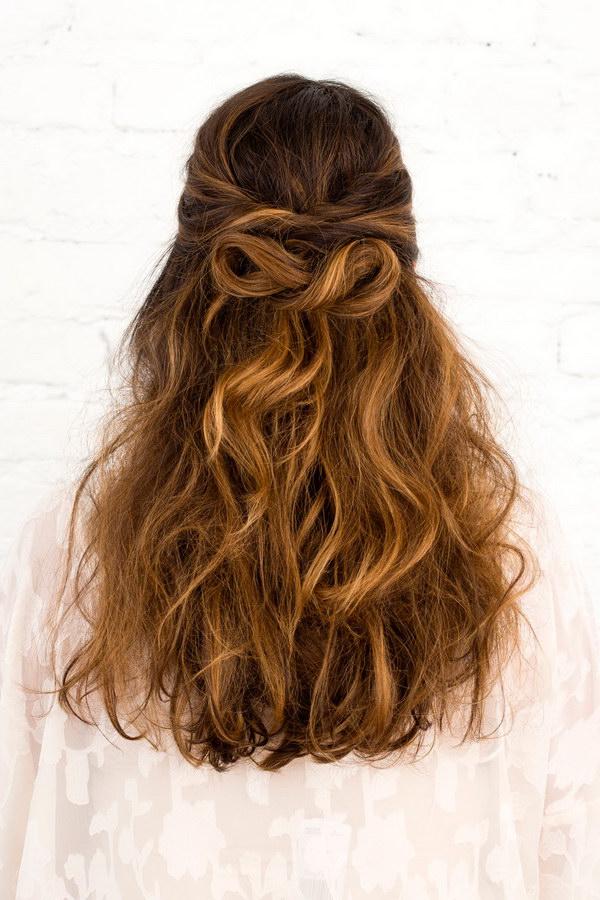 Groovy 55 Stunning Half Up Half Down Hairstyles Styletic Short Hairstyles Gunalazisus