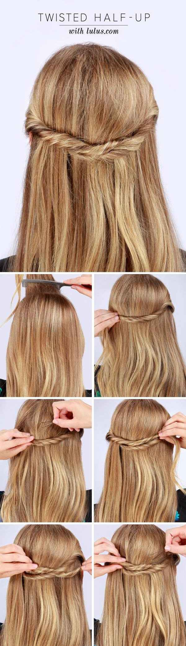 Twisted Half up Hair Tutorial.