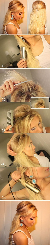 55+ Stunning Half Up Half Down Hairstyles | Styletic