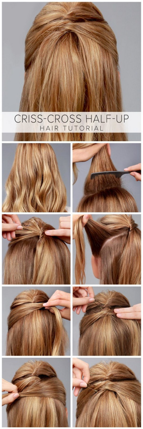 Unique Easy Hairstyles For Thick Hair Step By Images Half Up