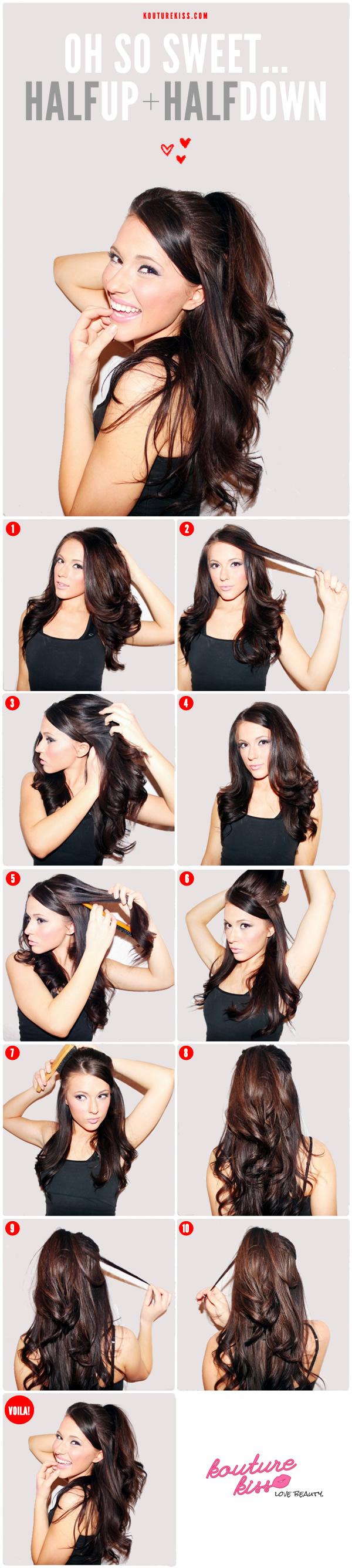 Fine 55 Stunning Half Up Half Down Hairstyles Styletic Short Hairstyles Gunalazisus