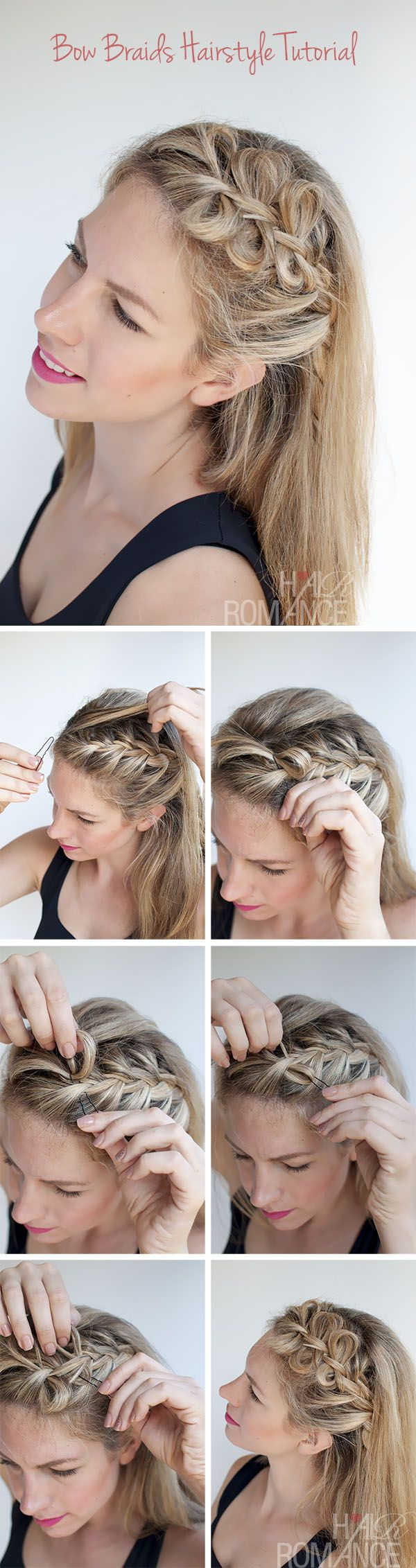 Side Bow Braided Hairstyle.