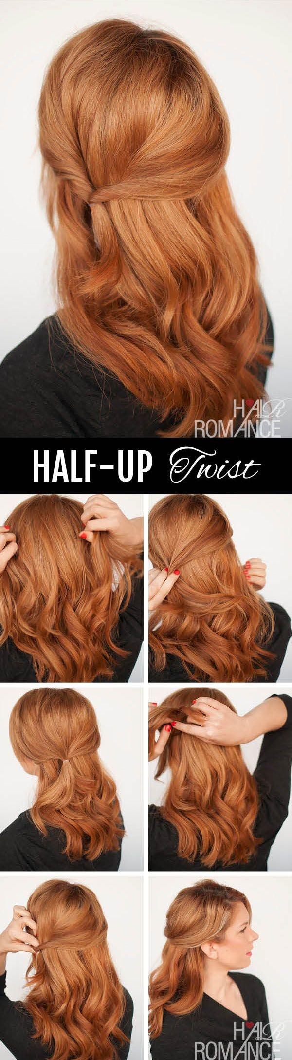 Half Up Twist.