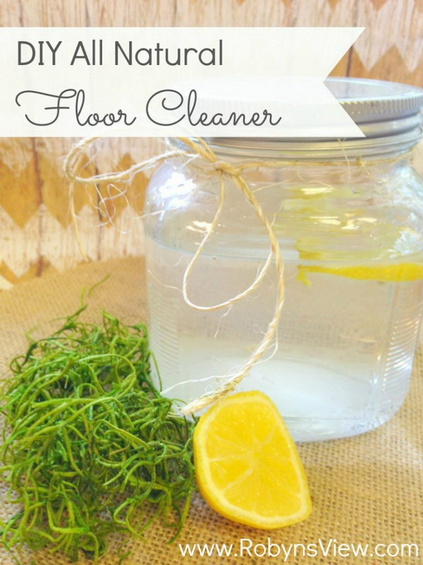 DIY All Natural Floor Cleaner.