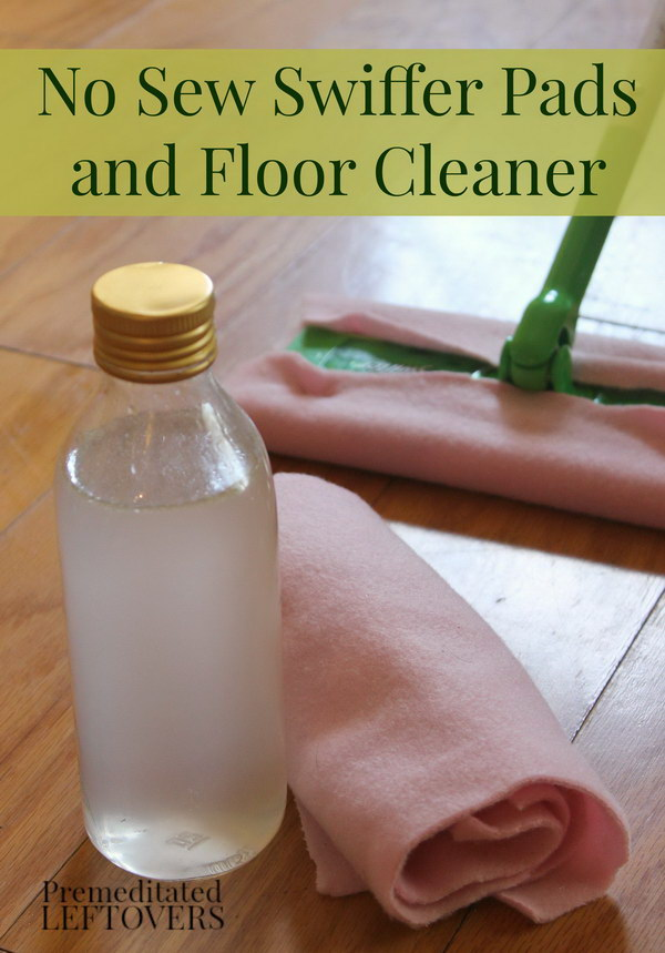 How to Make Homemade Swiffer Pads and Solution.