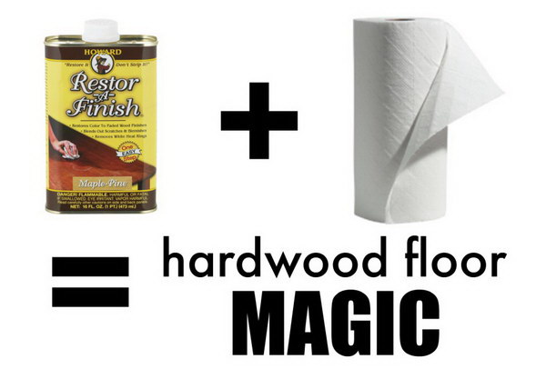 Fix Scratched Hardwood Floors in about Five Minutes.