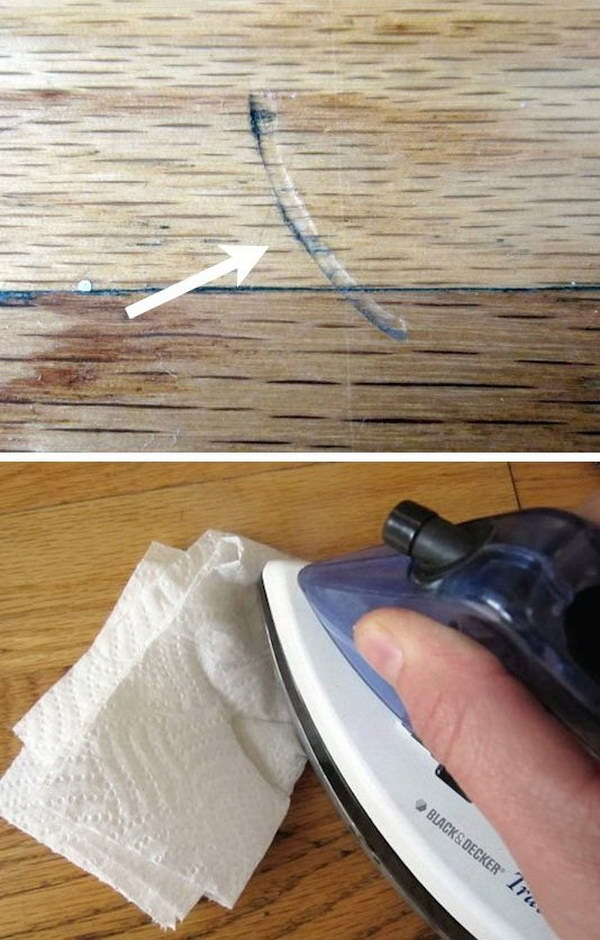 How to Fix Dents in Wood Floors or Furniture.