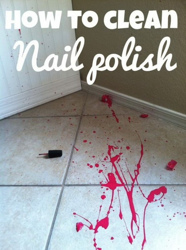 How to Clean Nail Polish from the Tile Floor.