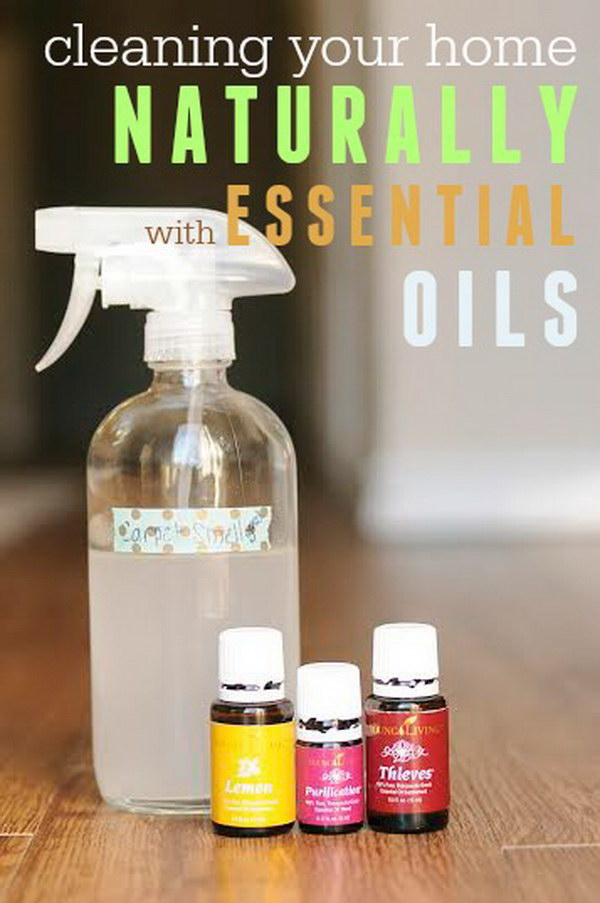 Clean Your Floor Naturally with Essential Oils.