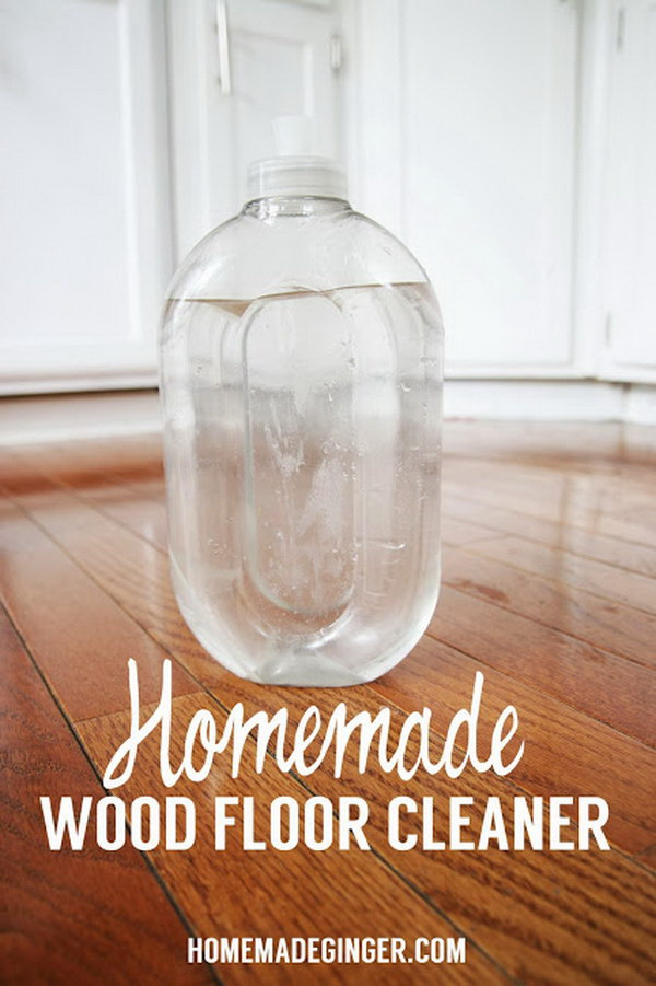 Homemade Wood Floor Cleaner.