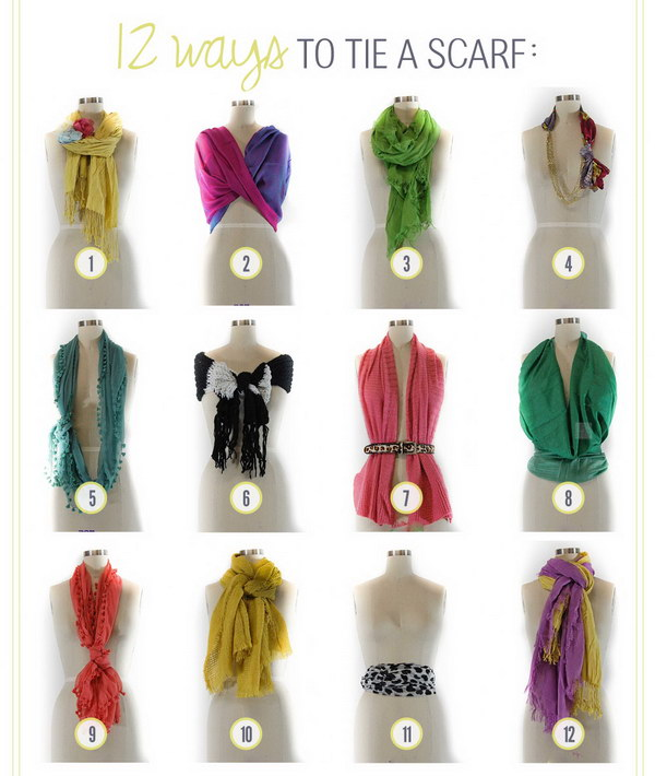 Different Ways to Tie a Scarf Beautifully.