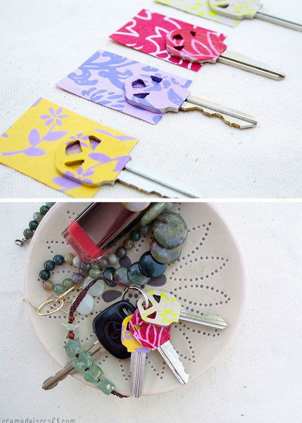 DIY Personalized Key Covers.