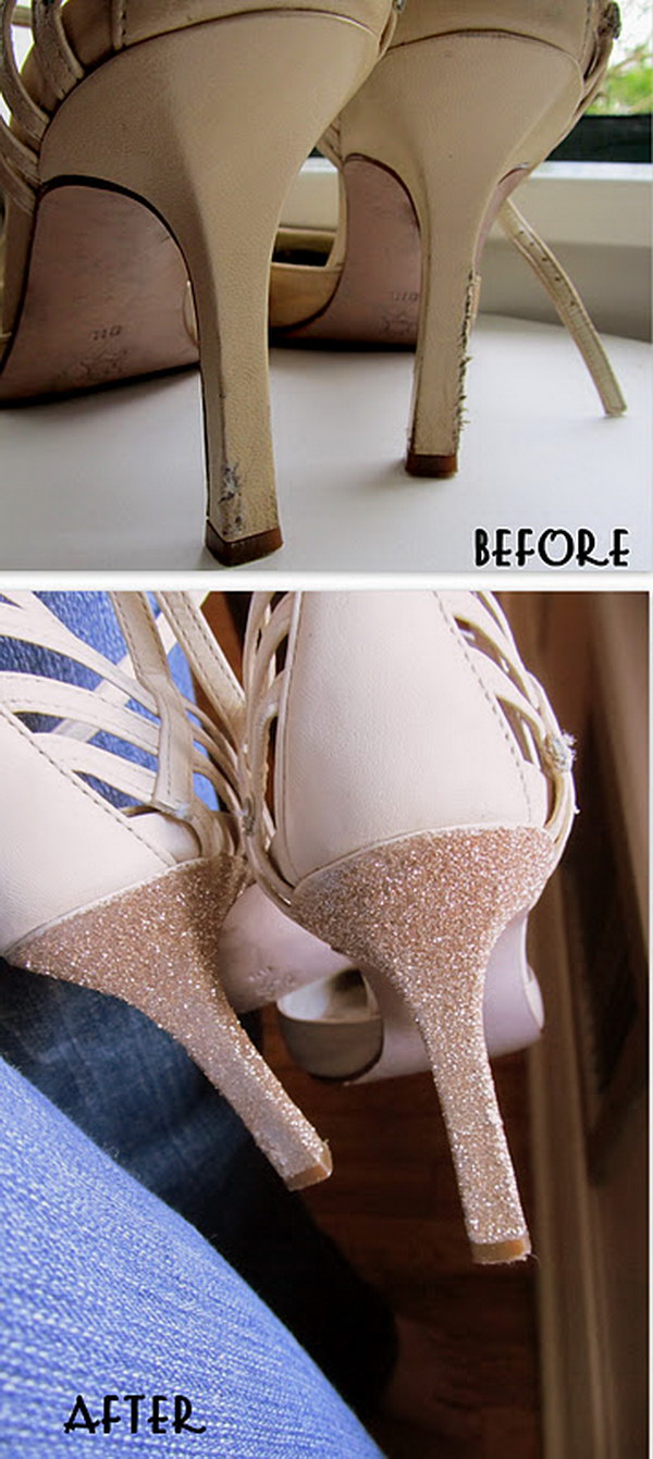 Re Style Old Heels with Glitter.