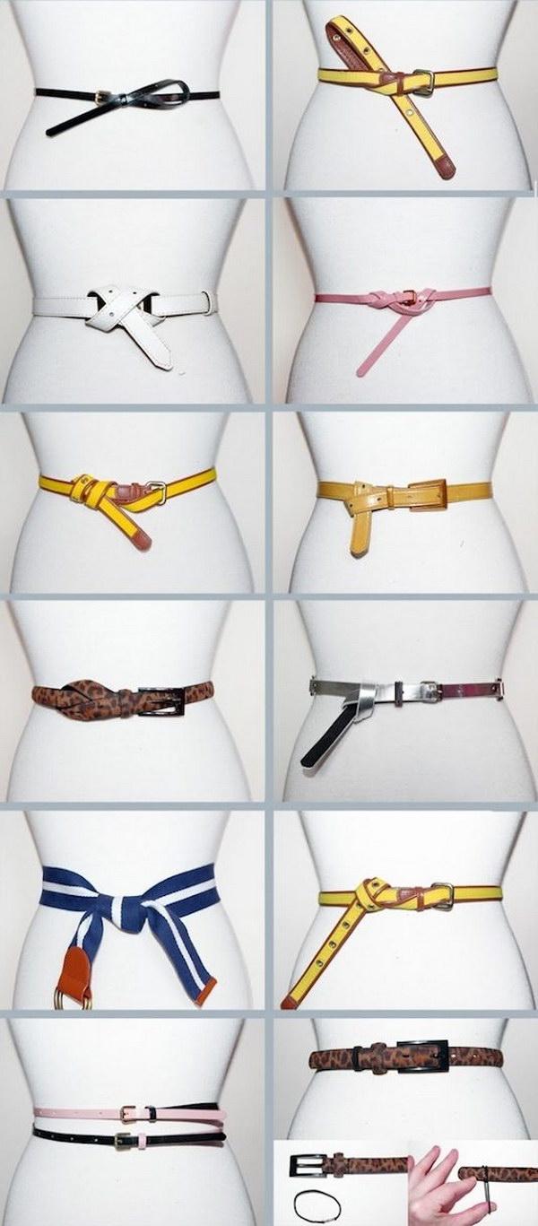 Awesome Ways to Wear A Belt.