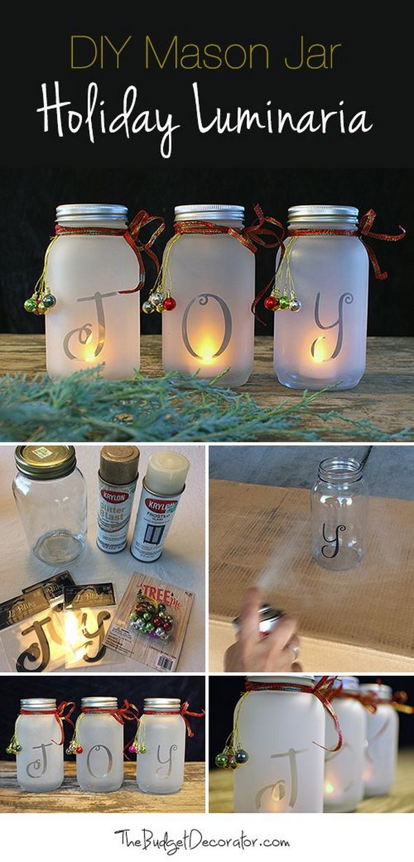 diy joy mason jar luminaria
