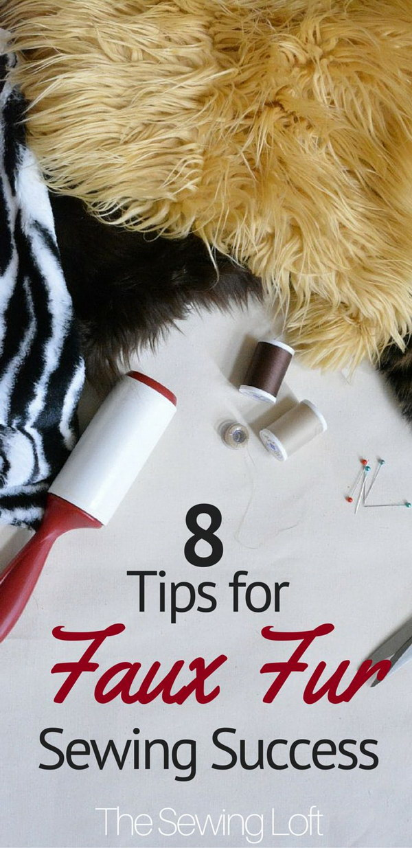 Tips for Faux Fur Sewing Success.