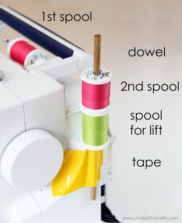 DIY Double Needle Spool Holder.