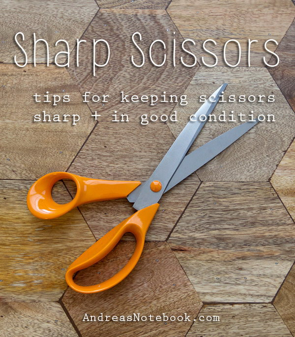 Keep Scissors Sharp.