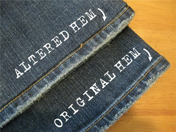 How to Alter Jeans : Shorter with Identical Hem.