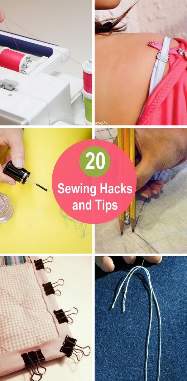 20+ Sewing Hacks and Tips.