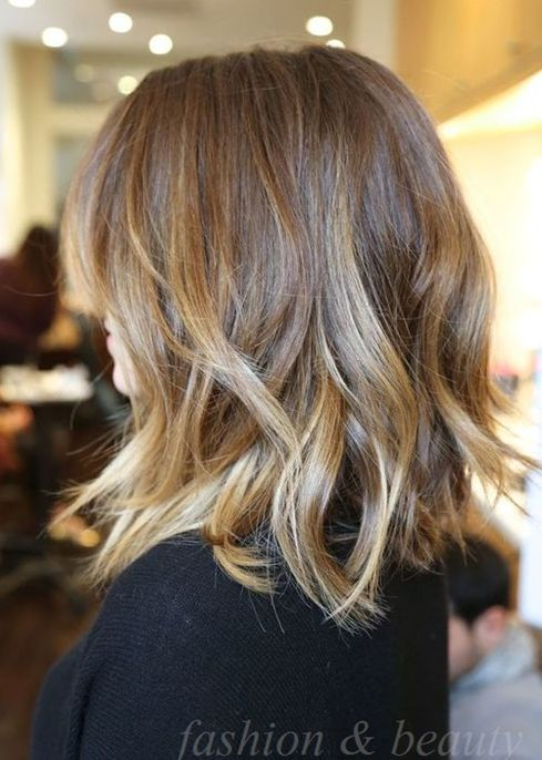 Shoulder Length Layered Hairstyle.