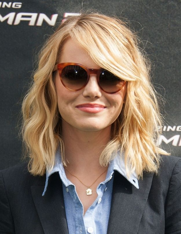 Celebrity Long Bobs for Shoulder Length Hair.