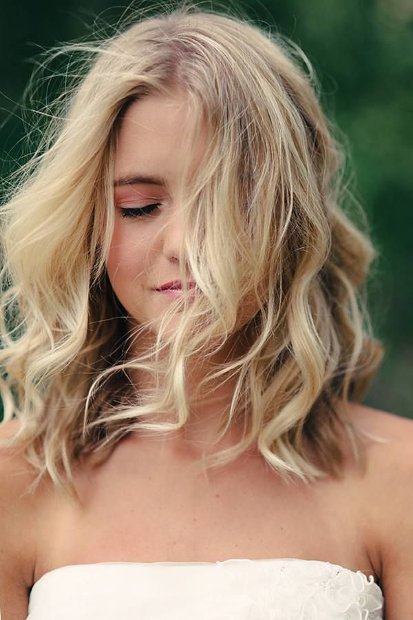 Tousled Waves for Shoulder length Hair.